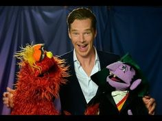 Benedict Cumberbatch faced with a difficult challenge on Sesame Street... better call back up Love this <3