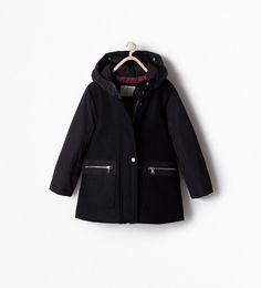 Image 1 of COMBINED HOODED PARKA from Zara