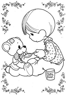 Kid and his pet  coloring pages