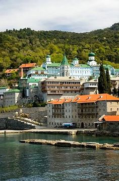 Saint Panteleimon Monastery, Mount Athos, Greece Christian World, Christian Church, Beautiful Castles, Beautiful Places, The Holy Mountain, Macedonia Greece, Destinations, Church Architecture, Ancient Greece