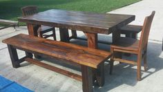 reclaimed wood 4x4 table