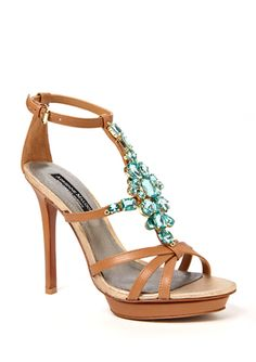 Super cute strappy heels for summer dresses