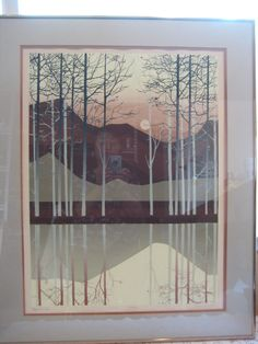 "BEAUTIFUL ""MAGICIAN LAKE"" L/E 154/500 LITHOGRAPH SIGNED BY ARTIST JOY LOWISBURY"
