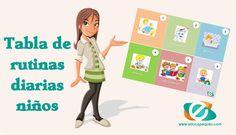 Os explicamos como hacer una tabla de rutinas diarias para nuestros niños y os dejamos una tabla de rutinas de ejemplo para que aprendáis a elaborarla
