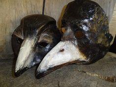 Will you Marry Me Paper mache raven mask crow by MiesmesaBerni