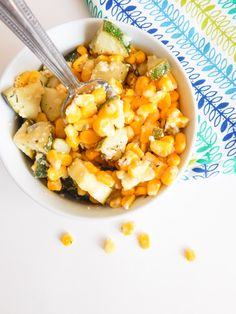 Parmesan Zucchini and Corn Salad