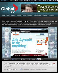 Ayoudo.com: Trending Now: Parents using Ayoudo to manage during teachers' strike | Global BC