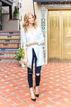 I'm such a big fan of long length boyfriend blazers like these right now. (Source: Glitter Guide)