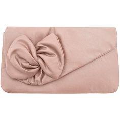 Blush twist bow clutch - Dorothy Perkins - Polyvore