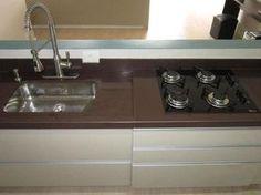Pia cozinha granito marrom absoluto A Alonso Mármores produz peças em pedras…