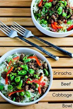 Recipe for Sriracha Beef Cabbage Bowl