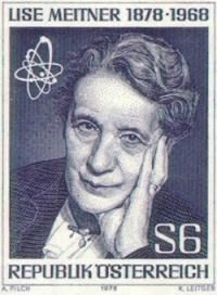 Lise Meitner -- In collaboration with Otto Hahn and Fritz Strassman, became first to recognize uranium atom actually split when bombarded by neutrons. (Chemical Heritage Foundation)