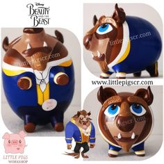 - Little Pigs Workshop Disney Beast, Dyi, Little Pigs, Clay Pots, Ideas Para, Minions, Workshop, Artwork, Gifts