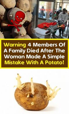 Warning: Four Family Members died after The Woman Made with A Potato! Made a single mistake. Get Healthy, Healthy Tips, Healthy Choices, Healthy Seeds, The Make, How To Make, Home Health, Health Fitness, Health Care