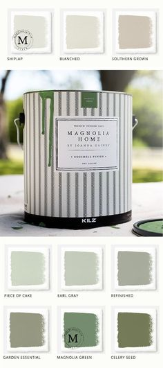 Kier here! The next time I flip a house, this is what I'm using! This collection of Magnolia Home Paint from designer Joanna Gaines offers a huge variety of colors for all of your home remodeling needs. Use this calming green color palette for your mudroom or entryway. #magnoliapaint #paint #diy