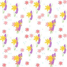 FREE printable floral pattern paper | #seamlesspattern