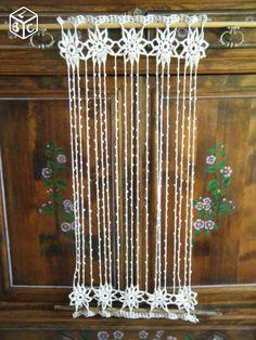 Rideau crochet main style flamand 50x98 cm
