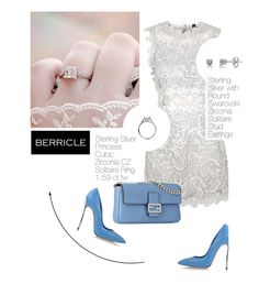 """""""Lady look: Berricle (2/1)"""" by merima-kopic ❤ liked on Polyvore featuring Topshop, Fendi, BERRICLE and Casadei"""