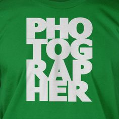 Photographer photography camera Screen Printed T-Shirt Tee Shirt T Shirt Mens Ladies Womens Youth Kids Funny Geek. $14.99, via Etsy.