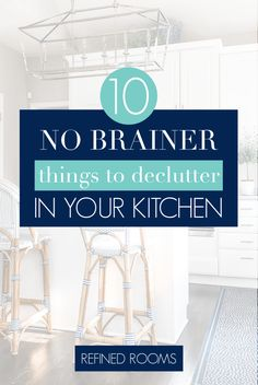 "Wondering what to toss during your kitchen declutter session? Don't let ""overwhelm"" stop you from decluttering! I've compiled a list of 10 ""no brainer' items to get you started! Small Space Organization, Home Office Organization, Paper Organization, Declutter Your Home, Organizing Your Home, Organizing Tips, Getting Organized At Home, Home Hacks, Decluttering"