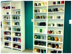 #scentsy product development area. Warmers on display! Pin pics of your #scentsystash