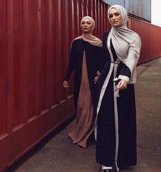 "1,773 Likes, 1 Comments - INAYAH (@inayahc) on Instagram: ""Black Wrap Front Coat Toffee Cotton Jersey Slip Dress Dusty Rose Soft Crepe Hijab - Black Wrap…"" Islamic Fashion, Muslim Fashion, Hijabi Girl, Hijab Pins, Abaya Fashion, Fashion Outfits, Modest Fashion, Beautiful Muslim Women, Toffee"