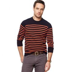 Mariner-stripe sweater by jcrew.