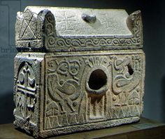 reliquary in art   Reliquary in form of a sarcophagus, Symar, 6th-7th century (basalt) by ...