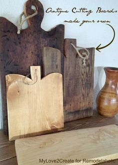 DIY Antique Cutting Boards