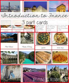 Introduction to France 3 part cards by Welcome to Mommyhood The Effective Pictures We Offer You About Montessori Activities newborn A qual Montessori Activities, Toddler Activities, Maria Montessori, Preschool Themes, Budget Planer, French Language Learning, Thinking Day, Free Printables, Homeschool