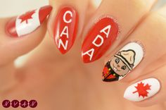 Canada Day Nails 2016