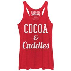 Women's - Cocoa and Cuddles CHIN UP Racerback Tank