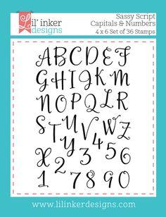 Lil' Inker Designs - Sassy Script Capitals