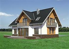 Projekt domu Akord Neo - murowana – beton komórkowy 158,2 m2 - koszt budowy 249 tys. zł - EXTRADOM 20 M2, Home Fashion, Shed, Outdoor Structures, Cabin, Mansions, House Styles, Home Decor, Decoration Home