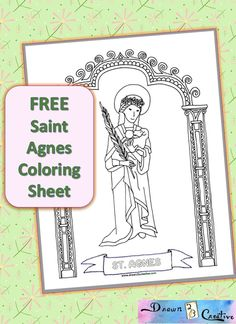 agnes coloring kids coloring catholic kids saints learn saints saint ...