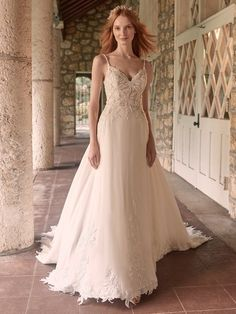 Maggie Sottero Wedding Dresses, Wedding Gowns, Halle, Bridal Looks, Bridal Style, Vera Wang, Nude Gown, Wedding Dress Pictures, Bridal And Formal
