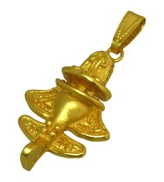 24k GP Collectible Ancient Aliens Aircraft-8 /Golden Flyer-8 Pendant #ACROSSTHEPUDDLE