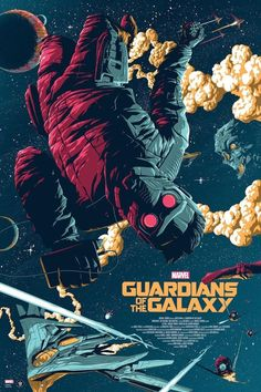 Guardians of the Galaxy Artist: Florey Marvel poster. Officially licensed Film Poster by Florey. Regular and variant Marvel poster. Kunst Poster, Poster S, Movie Poster Art, Poster Prints, Hero Poster, Comic Poster, Poster Drawing, Art Print, Ms Marvel