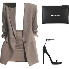 A fashion look from January 2018 featuring Yves Saint Laurent sandals. Browse and shop related looks. Mode Outfits, Fashion Outfits, Womens Fashion, Fashion Trends, Fashion Clothes, Fashion Tips, Classy Outfits, Stylish Outfits, Mode Kpop