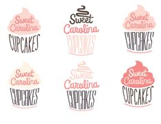 Logo Redesign: Sweet Carolina Cupcakes by Emily Foster, via Behance Baking Logo Design, Cake Logo Design, Bakery Design, Cupcake Logo, Cupcake Bakery, Logo Dulce, Logo Patisserie, Logo Branding, Branding Design