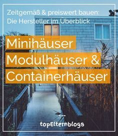 Wohncontainer Manufacturer: Cost-effective & ecological construction - Build Container Home Miniature Houses, Mini Houses, Small Places, Prefab Homes, Tiny House Design, Mobile Home, Tiny Living, Ecology, Building A House