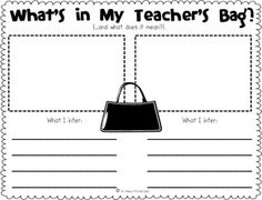 inferences Teacher's Bag individual activity
