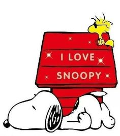 "Woodstock says ""I Love Snoopy"", and so do we!"