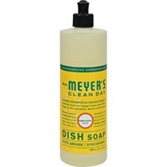 Meyers Clean Day Liquid Dishwashing Soap in Honeysuckle scent is a fast and effective degreaser for hand washing dishes. The formula is rich, thick, and extra concentrated and made from Soap Bark Best Dishwasher Detergent, Laundry Detergent, Dishwashing Liquid, Cleaning Day, F 16, Washing Dishes, Verbena, Natural Essential Oils, Biodegradable Products