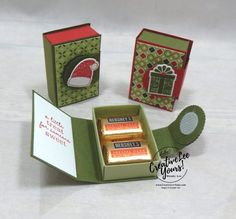 Little Treat Holder (Video) - Creativelee Yours Stampin Up Christmas, Christmas Paper, Christmas Crafts, Christmas Boxes, 3d Paper Crafts, Paper Gifts, Paper Crafting, Fancy Fold Cards, Folded Cards