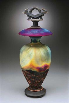 I've always loved Ed Risak's raku pottery best of all. Risak Raku, Raku Pottery, Pottery Raku, Ceramics Raku, Ceramics Artworks, Glasses Ceramics Porcelain, ...
