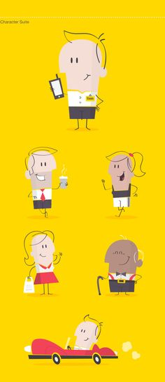 FCMS by Hype & Slippers, via Behance Simple Character, 2d Character, Character Concept, Flat Design Illustration, Character Illustration, Graphic Illustration, Cartoon Design, Cartoon Styles, Cute Characters