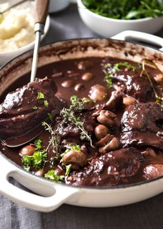 A traditional Coq au Vin recipe, with very tender chicken in a rich red wine…