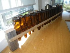 For home brewing  DIY beer bottle drying rack.