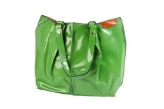 Green patent shoulder bag. Can be used as handbag or beach bag. Internal bag can be used inside as a compartment or removed and used as a clutch of shoulder / cross body bag using the long strap provided. Comes in orange, purple, blue, fuschia pink, pale pink and orange. Sold by Love Viva. https://www.facebook.com/LoveVivaaccessories